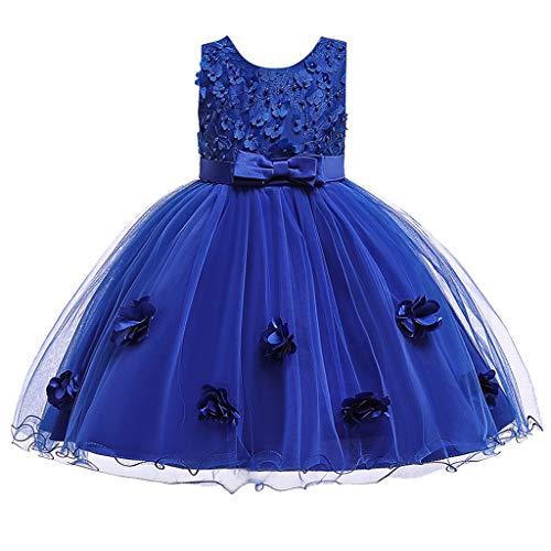 Frashing Kleinkind Kinder Baby Mädchen Prinzessin Kleid Party Abendkleid Brautjungfer Kleider Hochzeits Taufkleid Blumenmädchen Kleider Party Festlich Kleid Festzug Kleidung Tüll Kleid 6-36 - Disney Zero Kostüm
