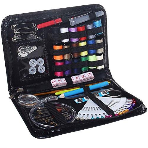 Kit de costura, suministros de costura Nokia Lumia 132091piezas Premium caja de costura Accesorios de costura para el hogar, viajes y uso de emergencia, color negro