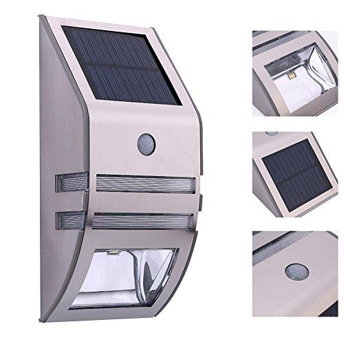 Luci / plastica solari in acciaio inox, di PIR corpo del sensore di movimento IP44 (Fiore Scatola Del Movimento)