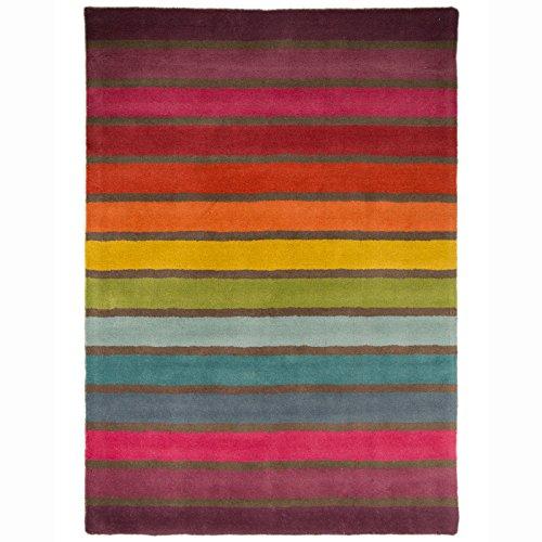 Just Contempo gestreift Teppich, Mehrfarbig, 120x 170cm, Mehrfarbig, 160 x 220 cm -