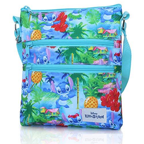 Disney Lilo Und Stitch Umhängetasche Für Kinder | Blau Handtasche Klein Kinder | Geldbeutel Fur Madchen Teenager Taschen Für Kinder Mädchen | Tasche Klein Damen | Das Perfekte Geschenk - Handtasche Kind