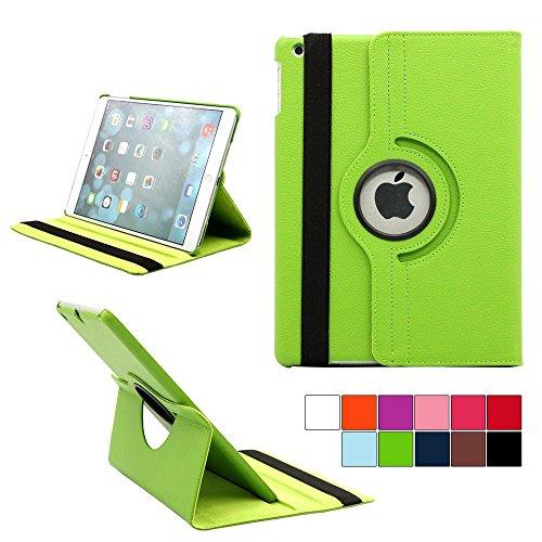 COOVY® Cover für Apple iPad Air II/iPad 6 (Model 2014) Rotation 360° SMART HÜLLE Tasche ETUI CASE Schutz STÄNDER | Farbe grün