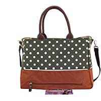 Pois stampa grande Portable Baby Diaper bag,