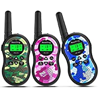 Nestling Walkie Talkies for Kids, 22 Channels Two-Way Radios Toys with Backlit LCD Flashlight, 3 Miles Long Range, for Outdoor Adventures, Camping, Hiking