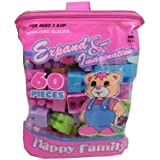 BUCA Happy Family Building Block Educational Toy For Kids - Multi Color
