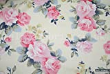 Pink Roses 100% Baumwolle Stoff Pro Meter 1,6m Breite