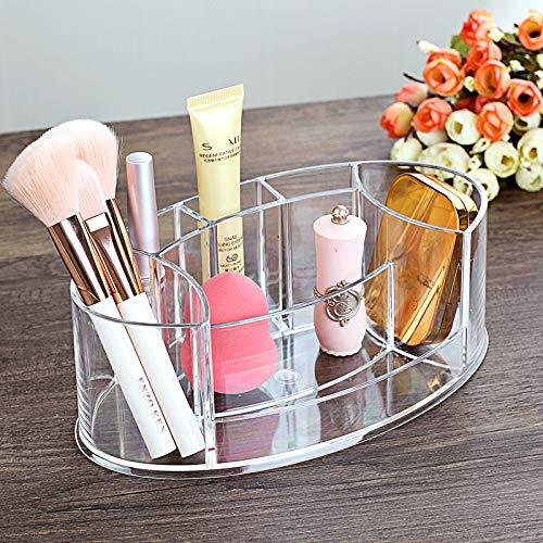 KWOSJYAL Tabletop Acryl Make-up Veranstalter Lisptick/Make-up Pinsel/Nagellack/Kosmetik Veranstalter Aufbewahrungsbox Make-up für Frauen Office Home Convenient (Veranstalter Acryl-kosmetik-make-up)