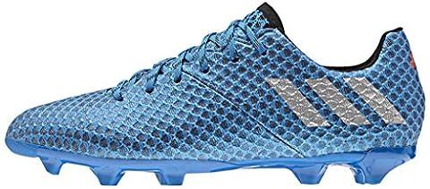 adidas Messi 16.1 Fg, Chaussures de Football Entrainement Mixte Enfant, Bleu (Shock Blue/Matte Silver/Core Black), 37 1/3 EU