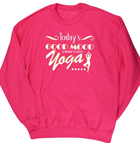 hippowarehouse-todays-good-mood-is-brought-to-you-by-yoga-unisex-jumper-sweatshirt-pullover