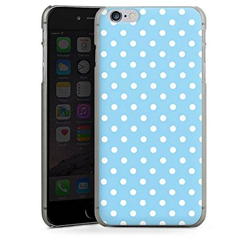 Apple iPhone 5 Housse Étui Protection Coque Points Motif bleu blanc Polka CasDur anthracite clair