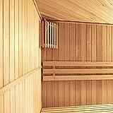 Home Deluxe - Traditionelle Sauna - Relax XL Big - Holz: Hemlocktanne - Maße: 200 x 210 x 200 cm - inkl. Harvia Saunaofen und komplettem Zubehör - 3