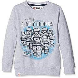 LEGO Wear Boy Star Wars M-72369-Sweatshirt, Sudadera para Niños, Gris (Grey Melange 924), 6 años