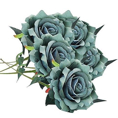 Artificial Flower,Clode® 5 Pcs Artificial Silk Flowers Rose Floral Wedding