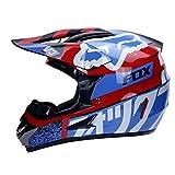 WZFC Crosshelm Motocross Enduro Downhill Fox Helm Motorradhelm Integralhelm,FOX5,M