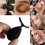 Logobeing 1Pc Aplicador de Sombra de Ojos Perezoso Sello de Sombra de Ojos de Silicona ,Herramientas de Maquillaje
