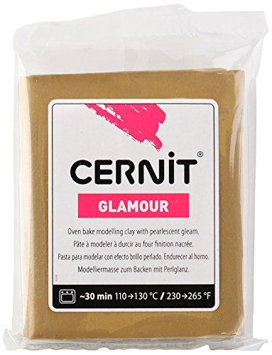 Cernit Glamour Lehm 56g, antik Gold, 7 x 5.5 x 1.5 cm