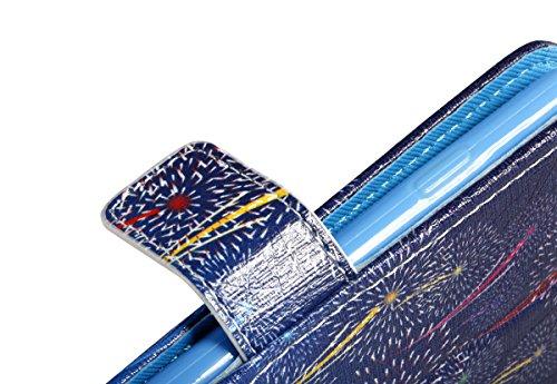 Apple iPhone 6s Leder Hülle,Ekakashop iPhone 6 Soft Painted Ledertasche Flip Case Wallet Cover im Bookstyle Stand Lederhülle Handyhülle Schale Silicone Back Bumper ,Kreativ Design Firefly Muster Prote Feuerwerk