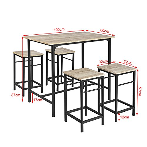 SoBuy-OGT11-N-Set-de-1-Table-4-Tabourets-Ensemble-table-de-bar-bistrot-4-tabourets-avec-repose-pieds-Table-Mange-debout-Table-haute-cuisine