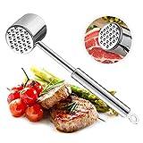 Attendrisseur à viande, Samione Marteau Attendrisseur à Viande Acier Inoxydable,Double-côté outil de marteau de viande pour la cuisine