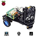 Adeept PiCar-A Wireless WiFi 3WD Smart Robot Car Kit for Raspberry Pi 3 Model B+/B/2B, Real-time Video Transmission, Raspberry Pi STEM Educational Robot with PDF Instructions(RPi Not Include)
