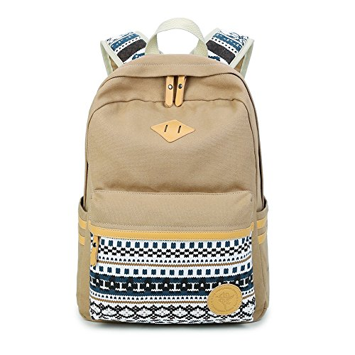 Luminoso zaino moda tela viaggi borsa a tracolla di scuola di Paladin Nlh, Blue Khaki