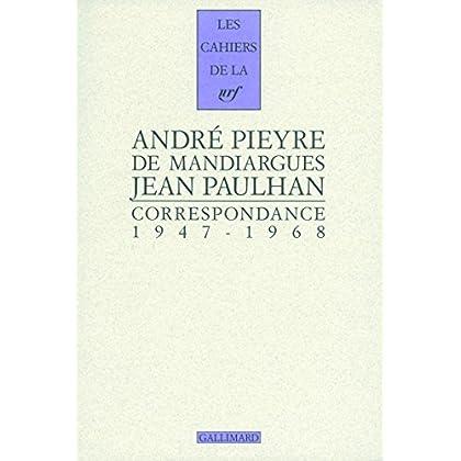 Correspondance: (1947-1968)