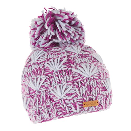 51K tv%2BsltL. SS500  - Weird Fish Kari Fancy Yarn Knitted Bobble Hat Sloeberry Size One