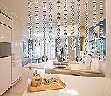 Ebeta 5Pcs 1M Kristall Perlen Girland Octagon Bead Garland Anhänger Hochzeit House Office Dekoration Partei Dekor (Mit Kristall Teardrop)