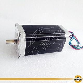 ACT Motor GmbH Nema23 1PC 23HS2442P15 112mm 4.2A 2.8 Nm Single Flat Shaft Ø 8mm Automation Scanner 3D-Printer CNC Machine Carver Machine