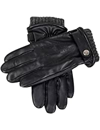Black Henley Touch Screen Hairsheep Leather Gloves by Dents