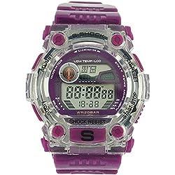 Sporto Boys-Gents Disco Light Digital Chrono Purple Plastic Strap Watch Sporto7