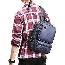 9a01da977 Realmark - Mochila de Piel Multiusos para Hombre, con Bandolera, Bolsa de  Viaje,