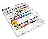 Pébéo 833431 Set Studio + Acrylique Assortiment de 30 Tubes de 20 ml + Brosse