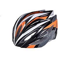 EP-Helmet Casco De La Bici De Montaña, 21 Respiraderos, Código, con El Ajustador,Orange