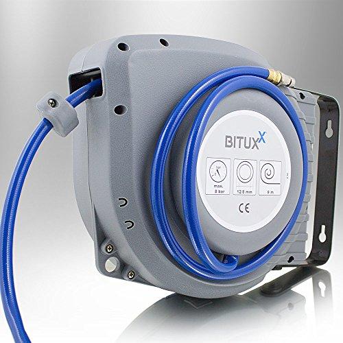 BITUXX® Druckluft Schlauchtrommel 9m automatik Druckluft Schlauchaufroller