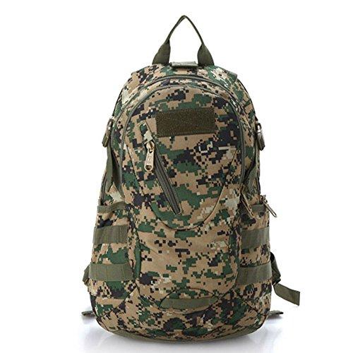 Ruifu Sac à dos de montagne couleur camouflage, sac de camping, de voyage, de randonnée, 20 l, Vert jungle