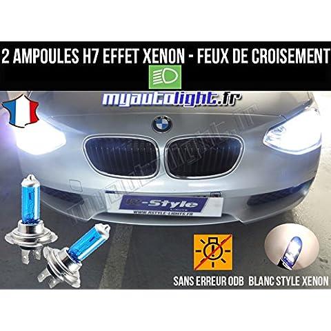 Pack lampadine H7bianco Xenon Fuochi croisement-code per BMW Serie 1F20 - Bmw Coda Lampadina