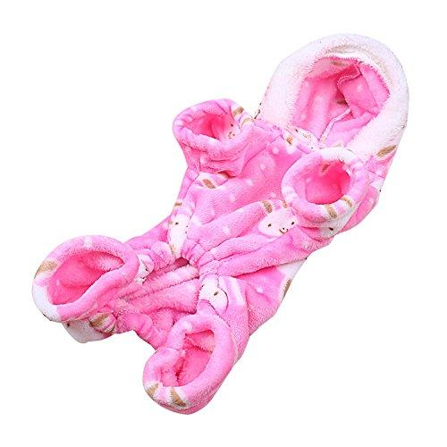 Balock Schuhe Haustier Kleidung Kleine Welpen Warme Jacke,Hunde Kleider Haustier Kostüm Haustier Katze,Winterkleidung Mantel Kleid Welpen Warm Weste Kostüm (Rosa, S)