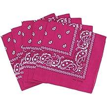 Lot de 5 bandanas paisley - Foulard coton motif cachemire vendu par 5