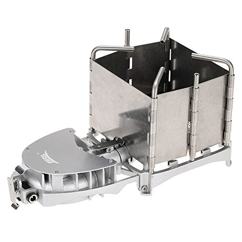 Docooler BRS portátil Palm-Sized Camping al Aire Libre Estufa de leña Quemador de carbón Barbacoa Horno electrónico del Ventilador Estufa