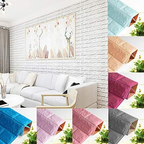 Hukz DIY 3D Ziegel PE Schaum Tapete Panels Zimmer Aufkleber Stein Dekoration geprägt,70cmx38.5cm,PE,Umweltschutz,Nagelneu, Stilvoll und Hochwertig