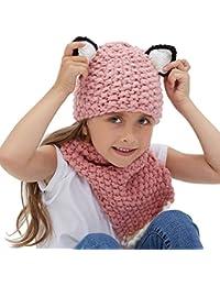 21815c896d9 Tacobear Kids Warm Winter Hat Knit Hat Knitted Coif Hood Scarf Beanie Hats  Handmade Crochet Hat for Boys Girls…