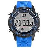 Beydodo Relojes Electronicos Reloj Hombre SiliconaReloj Hombre Moda Reloj Hombre Reloj de Pulsera Azul