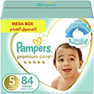Pampers Premium Care, Size 5, Junior, 11-16 kg, Mega Box, 84 Diapers