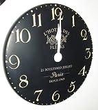 Thomas Kent Hotel des Fleurs Wall Clock - 30cm Black B9HDN