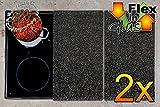 PREMIUM Herdabdeckplatten 2-tlg. Set granitfarben gesprenkelt grau hellgrau dunkelgrau, Herdabdeckung + Spritzschutz Glas, Herdblende,Herdabdeckplatte für Elektroherd mit Ceran,Ceranfeld,Induktion Kochfeld - auch als Schneidebrett Maße viereckig je ca. 52 cm x 30 cm x 0,8 cm - Herdplatten Abdeckung Schneidbretter Glaskeramik Kochfelder Kochplatten, Herdset einzeln doppel doppelt rund, Kinderschutz für Herdfeld Herdglas Ofen Backofen, Herdzubehör, Kochfeldplatten gross