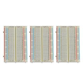 Neuftech 3 X 400 Kontakte Breadboard, Steckbrett Lochraste Laborsteckboard Experimentierboard für Raspberry pi/Arduino - Steckboard Steckplatine