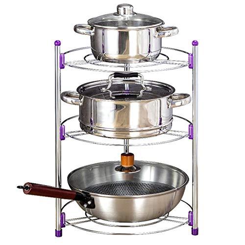 Topfdeckelhalter Deckelhalter Küchenregal Pfannenhalter Verstellbares Pfannen Regal Topf und Pfanne Gestell aus Edelstahl Küchenutensilienhalter