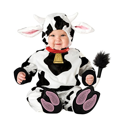 O&N Baby Jungen Mädchen Kleinkinder Animal Kostüm Halloween Party Jumpsuit Winter Strampler Kuh 80cm