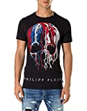 Philipp Plein Herren T-Shirt, Schädel schwarz schwarz Gr. Medium, schwarz